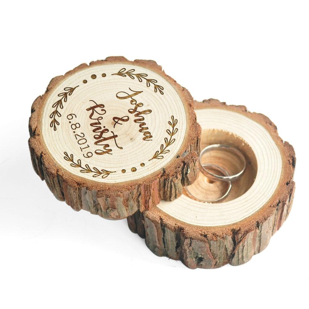 Ring Box Rustic Bearer Pillow
