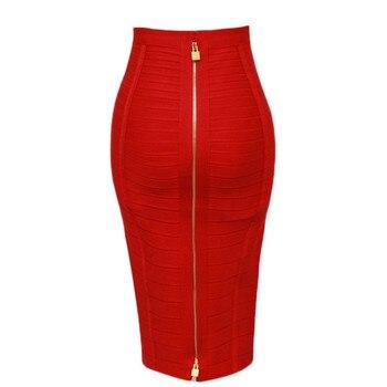13 ألوان المرأة الصيف أزياء مثير أسود أحمر بيج ضمادة تنورة 2019 محبوك مرونة الحلو قلم رصاص تنورة 1