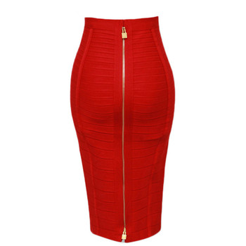 13Colors Women Summer Fashion Sexy Black Red Beige Bandage Skirt 2020 Knitted Elastic Sweet Pencil Skirt