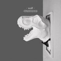 Мир Юрского периода Творческий смолы джентльмен динозавр тираннозавр модель Triceratop стене висит американские декоративные best Home Decor