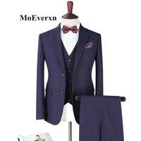 2017 Business Men Suits Custom Made Wedding Suits 3 Pieces Men S Suit Slim Fit Notched