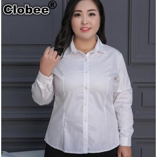 Clobee Women Shirt 2018 Office Wear Blouse Spring Summer Plus Size Womens Long Sleeve Retro Solid Blusas Tops M274 In Blouses Shirts From