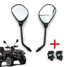 Мотоциклетные зеркала заднего вида M10, 7/8 дюйма, крепления на руль для Honda Kawasaki Yamaha Suzuki Arctic Cat ATVs Polaris Sportsman