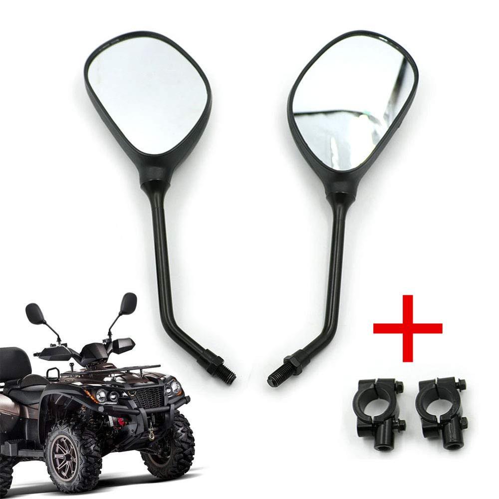 "M10 Motorcycle Rear View Mirrors 7/8""Handlebar Mounts For Honda Kawasaki Yamaha Suzuki KTM Arctic Cat ATVs Polaris Sportsman"