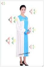 Christian Church Choir Dress Clothing Jesus Class Service Wear Wedding Hymn Holy Garments Nun Costume Sing Robe M-XXL