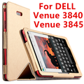 Case para dell venue 8 pro de couro protetora smart cover tablet para dell venue 8 3840 3845 8 polegada pu protector sleeve case