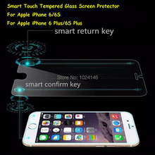 Magic Touch Smart Shortcut Tempered Glass Screen Protector For Apple iPhone 6 6S Plus 4.7″ 5.5″ W/ Smart Back Confirm Button Key
