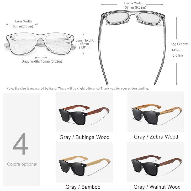 bd6dea4e0059b KINGSEVEN Gray Polarized Lens New Zebra Wood Sunglasses Women Men Luxury  Brand Vintage Wooden Sun Glasses Retro Eyewear-in Sunglasses from Apparel  ...