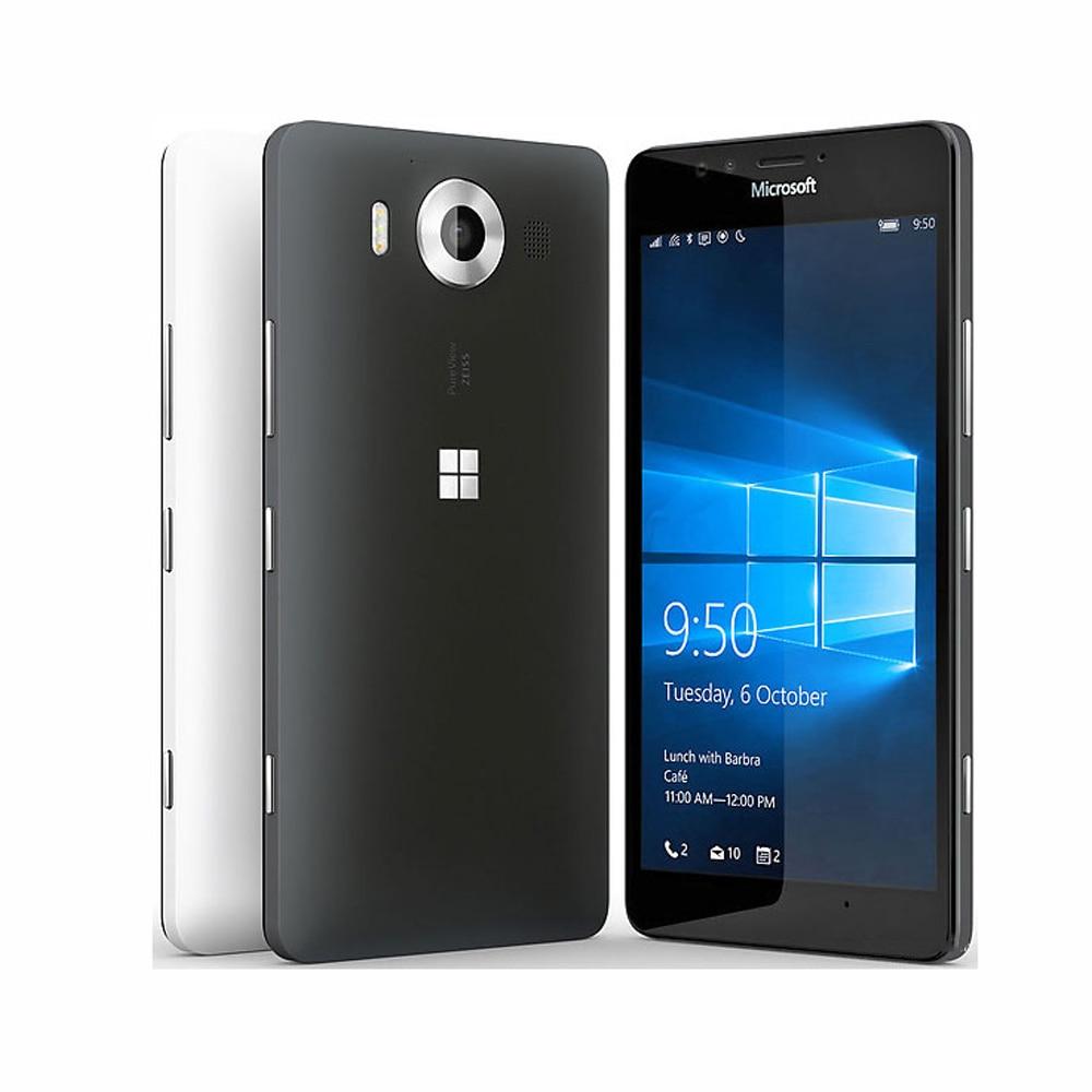 New Original At&T Version Nokia Microsoft lumia 950 Rm-1105 Mobile Phone 4G LTE Snapdrag ...