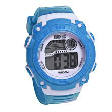 Colorful Children Boys Girls Watches Portable Students Digital LED Clock Kids Quartz Alarm Date Sports Wrist Watch July26