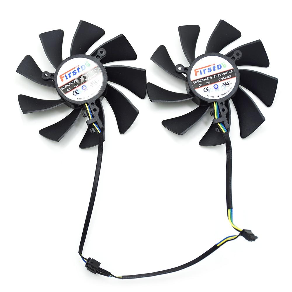 2 unids/lote 85mm FD9015U12S XFX HD7970 4Pin ventilador para Sapphire XFX HD7950 HD7970 vapor-x edición GHz tarjeta de vídeo de refrigeración