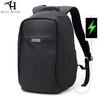 20L Men's Backpack Waterproof Anti theft USB Charging Backpacks Student School Bags 15.6 Inch Laptop Computer Bag for Men Women