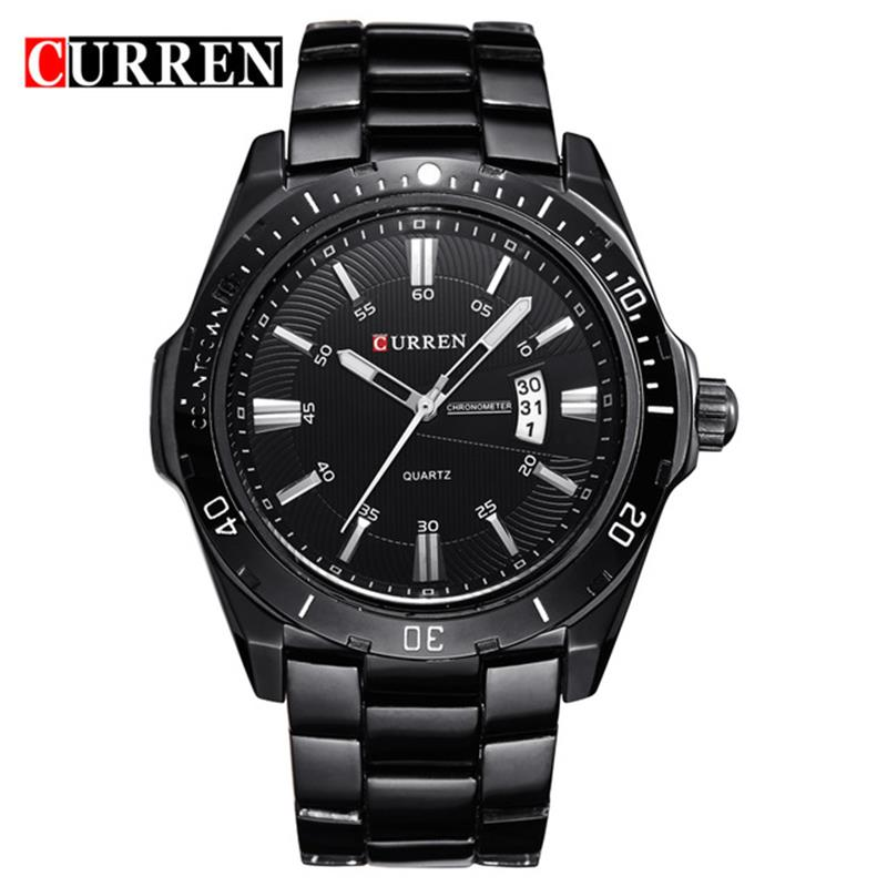 CURREN 8110 Watches Men Top Brand Fashion Watch Quartz Watch Male Relogio Masculino Men Army Sports