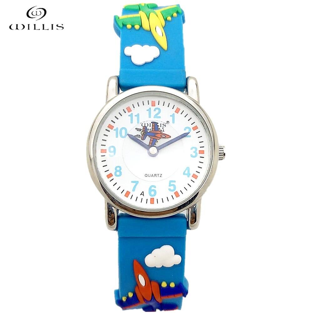 Watches Willis Brand Time Teacher Little Boys Girls Childrens First Wrist Kids Watches 3d Football Cartoon Character Relogio Feminine