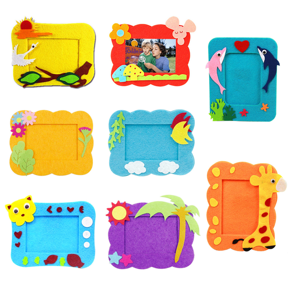 Home kids diy handmade lovely eva cloth photos frame decoration home kids diy handmade lovely eva cloth photos frame decoration creative craft assembled cloth picture baby frame toys in puzzles from toys hobbies on jeuxipadfo Gallery