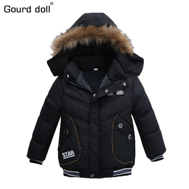 От 2 до 5 лет Мода 2017 года зимняя куртка для мальчиков, парки, детская верхняя одежда, пальто, куртка с капюшоном, детская теплая хлопковая стеганая одежда, куртка для мальчиков