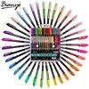 Bianyo 36Color Set Glitter Highlight Pen For Children School Art Supplier Finecolour Neon Art Marker Gel