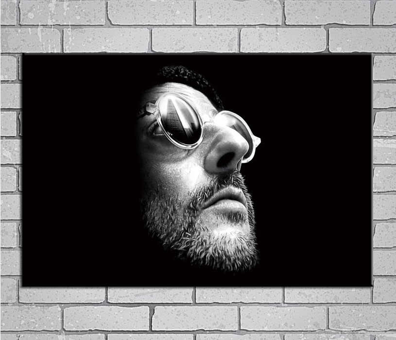 Leon The Professional Classic Movie Jean Reno Actor Light Canvas Custom Poster 24x36 27x40 inch Home Decor N610