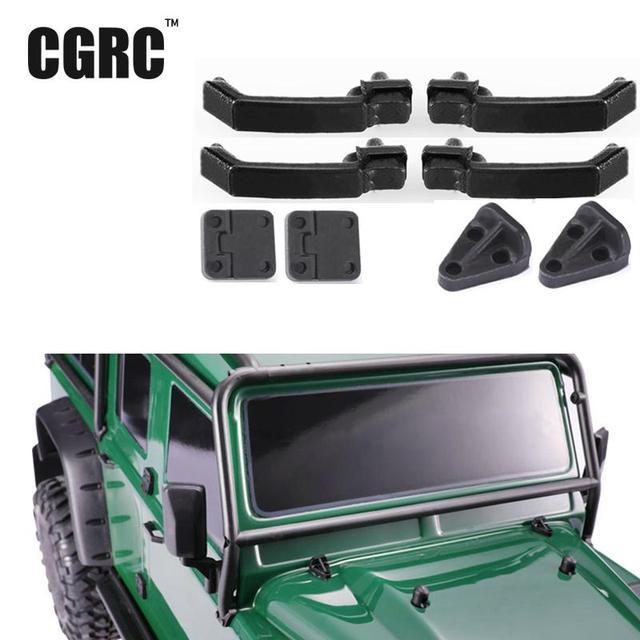 Simulation Decorations Rubber  Door Handle Cover Hinge Door Hinge For 1/10 Trx-4 T4 D90 D110 Rc Crawler Car
