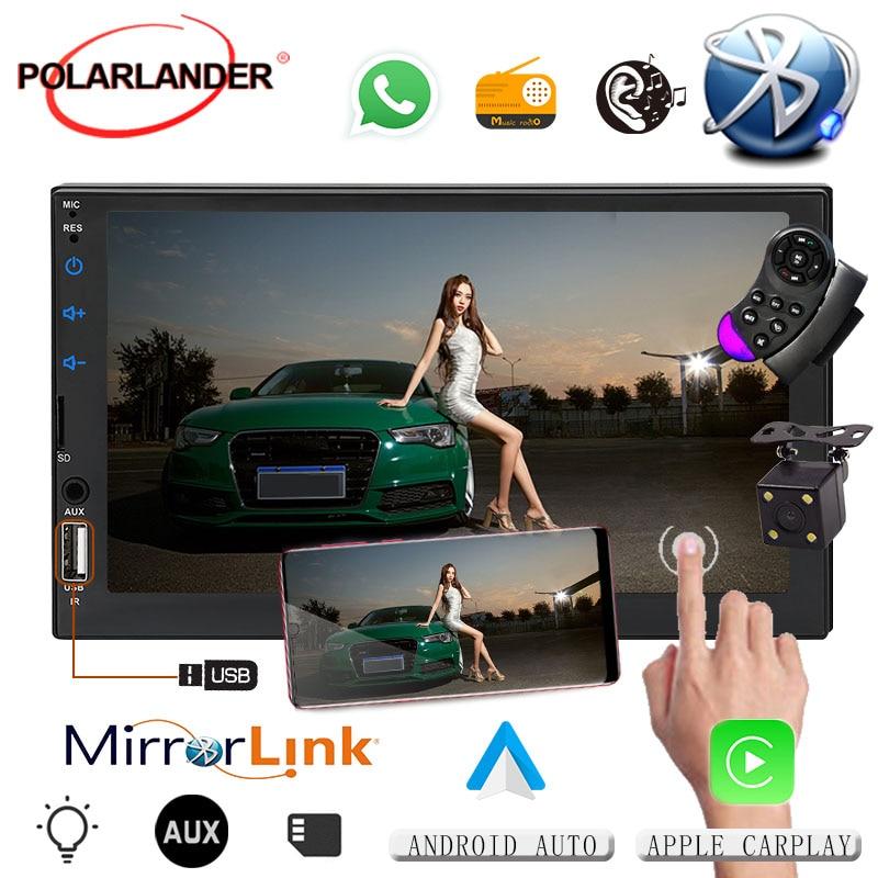 Android 7 ecran tactile radio voiture pour apple carplay miroir lien MP5 lecteur Autoradio IOS multimédia Autoradio bluetooth Autoradio