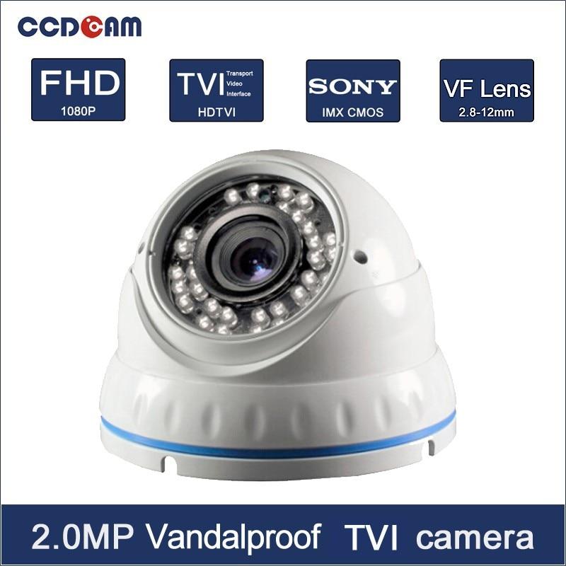 CCDCAM vandalproof varifocal lens1080P CCTV HDCVI security camera for security system цены онлайн