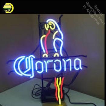 CORONA BEER PARROT Neon Sign Neon Bulb Sign Handmade Light Room Recreation Decor Glass Tube Handcraft Affiche indoor lamps