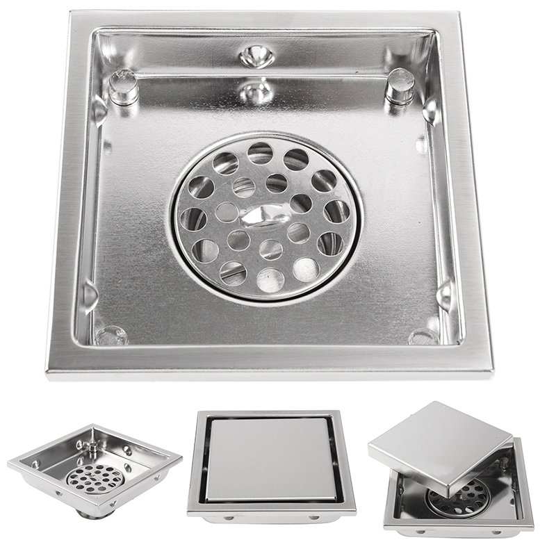 304 Stainless Steel Tile Invisible Grate Wetroom <font><b>Floor</b></font> Drain Square <font><b>Floor</b></font> Waste Grates Bathroom Shower Drainer Mayitr