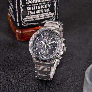 Image 2 - Seiko zegarek mężczyźni top luksusowa marka wodoodporny zegarek sportowy zegarek solarny Chronograph zegarek kwarcowy mężczyźni Relogio Masculino SSC009