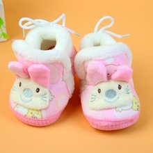Winter Baby Cute Rabbit Warm Shoes Infant Soft Bottom Anti-Slip First Walkers Toddler Shoes Newborn Baby Boys Girls Cotton Shoes
