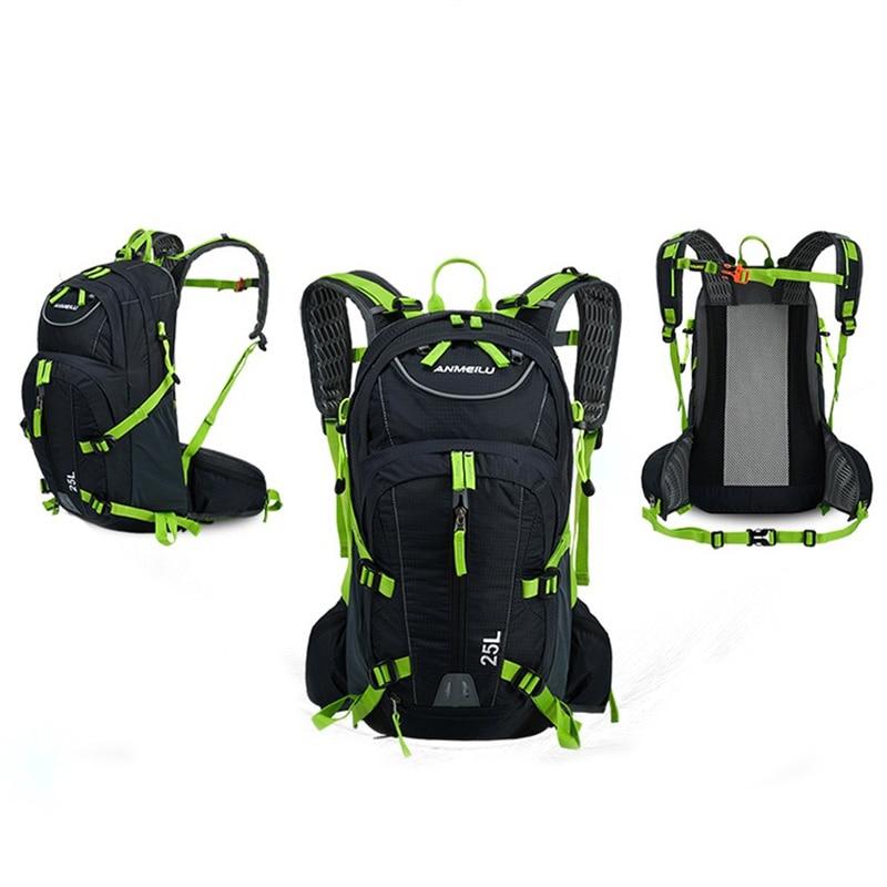 ANMEILU 25L étanche Camping randonnée cyclisme sac à dos avec sac à eau Sports de plein air sac à dos casque Net couverture SBS zipper