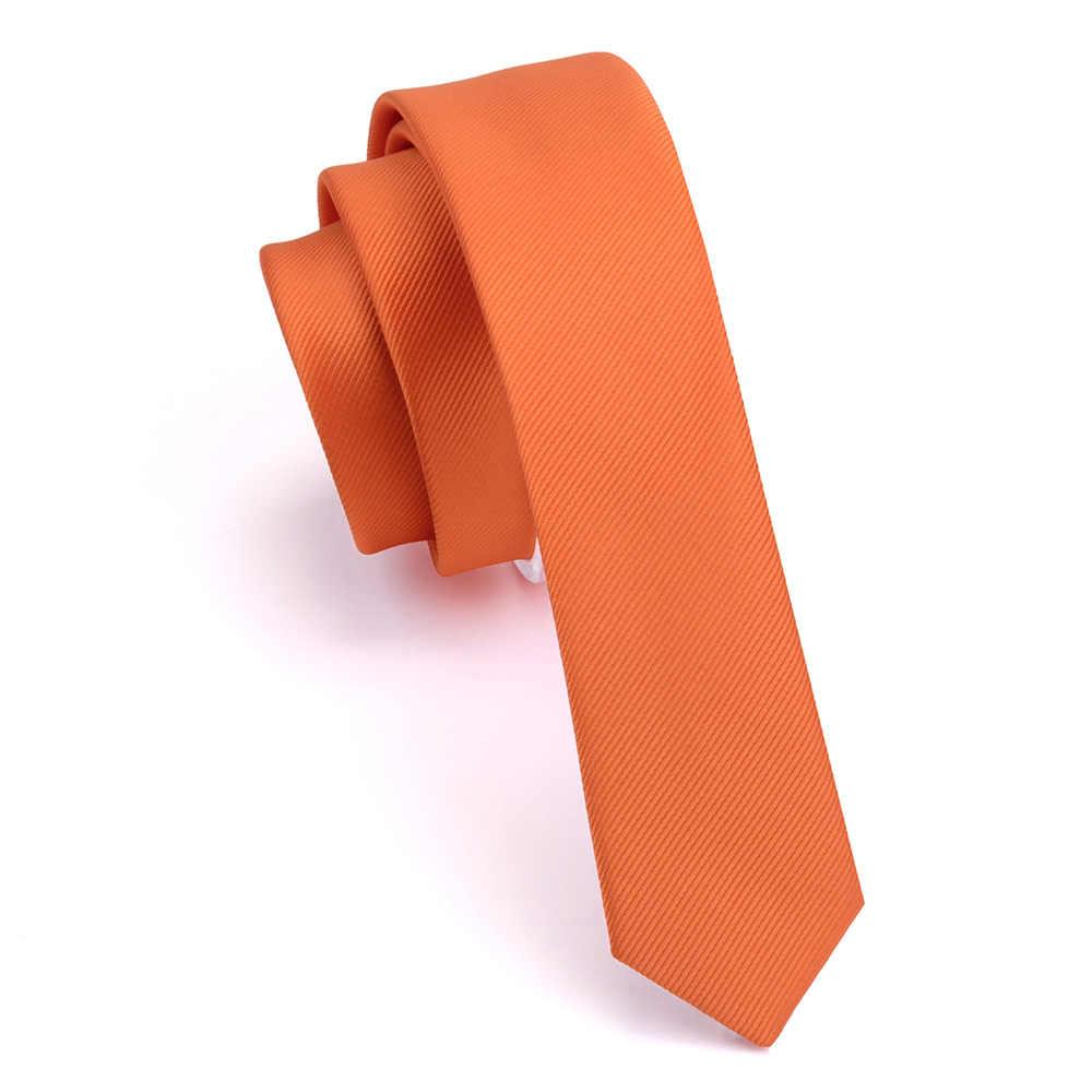 GUSLESON ลำลอง 4cm Slim Tie สีแดงสีเหลืองสีเขียว Ties Handmade แฟชั่นผู้ชายทอผอมเน็คไทสำหรับงานแต่งงาน party