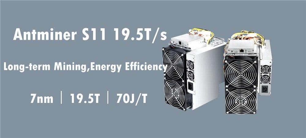 BITMAIN AntMiner S11 19.5 T BCH BTC SHA-256 Mineur Mieux que S9 S9j S15 T15 Z9 Mini T9 + WhatsMiner M10 M3 M3X