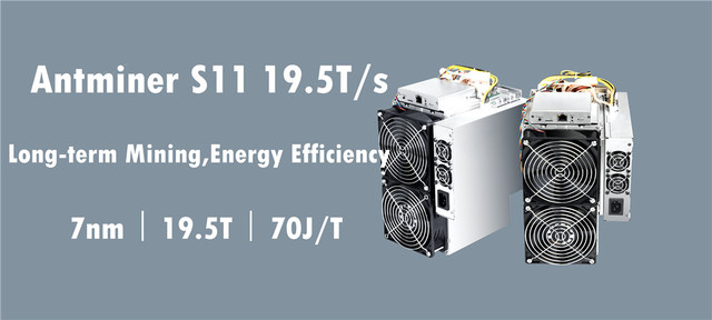 BITMAIN AntMiner S11 19.5T BCH BTC SHA-256 Miner Better Than S9 S9j S15 T15 Z9 Mini T9+ WhatsMiner M10 M3 M3X