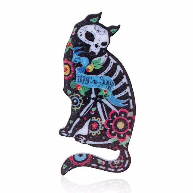 Acrylic Animal Patterns Pin Brooches For Women