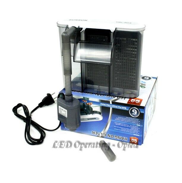 Super 3w external aquarium filter box waterfall for Water pump filter box