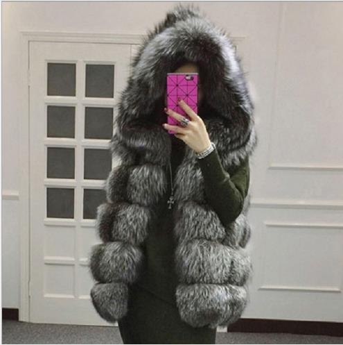 Gilets Furry D'hiver En Artificielle Femmes Grande Fourrure Vestes Femme Gilet De 2019 Veste Faux Z40 Nouveau Manteau Taille vqHZzHg