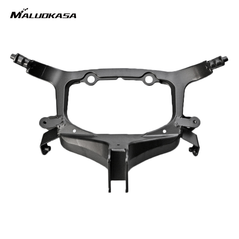 MALUOKASA Moto Upper Front Fairing Cowl Stay Headlight Bracket For Suzuki Hayabusa GSX1300R 2008 2009 2010 2011 2012 2013 2014 upper stay front fairing cowl bracket for suzuki hayabusa gsx1300r 2008 2014 2009 2010 2011 12 black