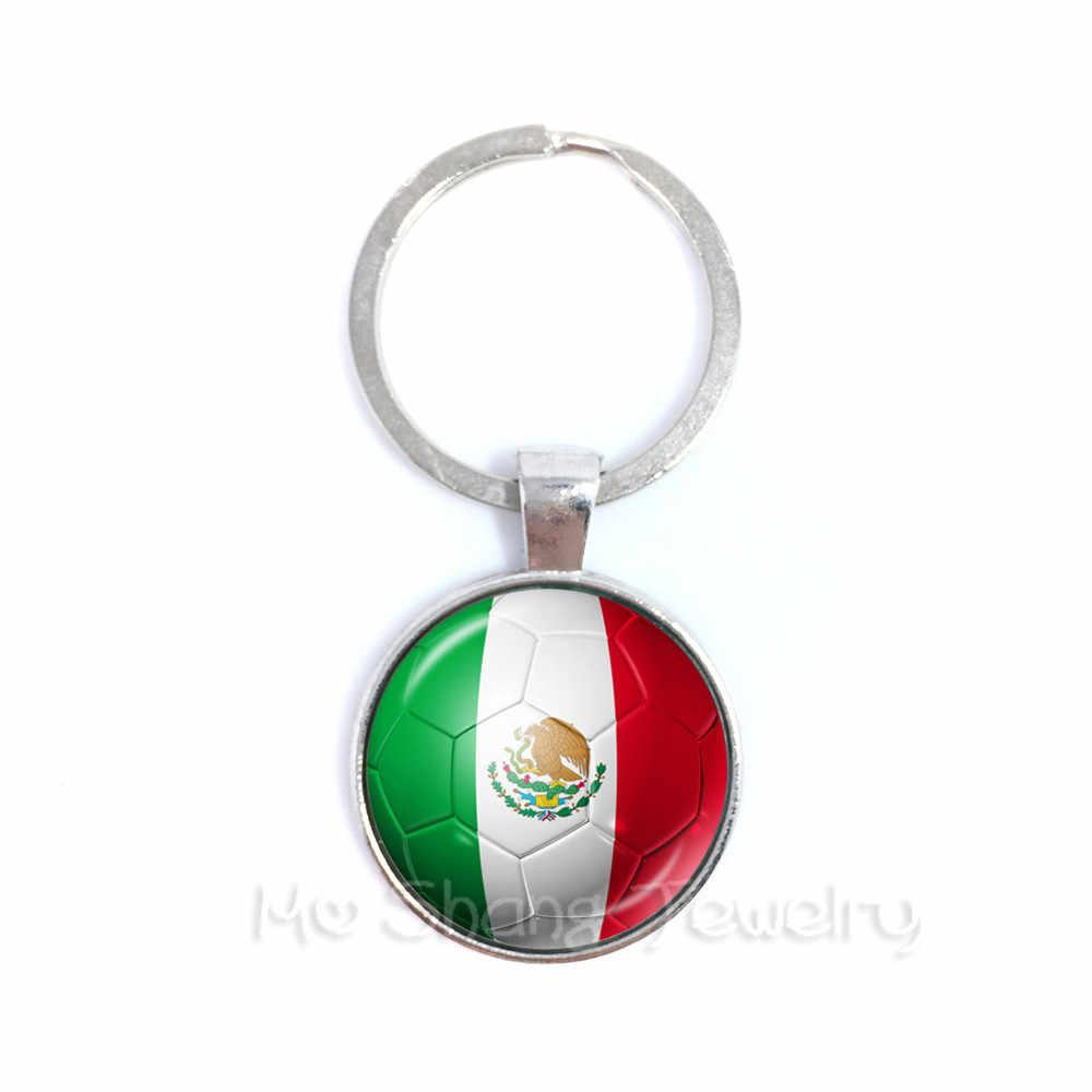 Llavero con diseño de bandera de la nación de México, Perú, Brasil/Marruecos, Brasil