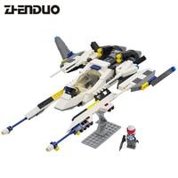 8614 GUDI Star Wars Series White Lion Fighter Model Building Blocks Classic Enlighten Figure Toys For