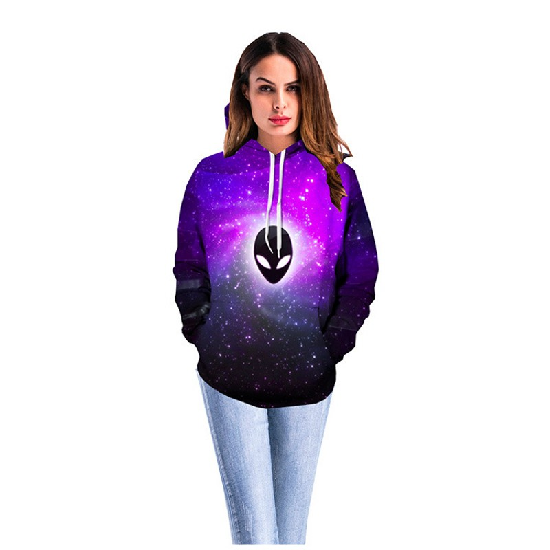 2019 Clothes UFO Women Hoodies Couple Costume Hoodie 3D Ghost Starry Sky Stick Ball  Lovers Coat Clothing