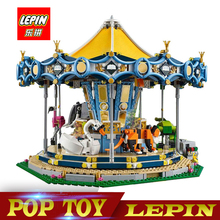 New Lepin 15036 2705Pcs Genuine Street Series The New Carousel Set Children Building Blocks Bricks Toys Model legoed 10257