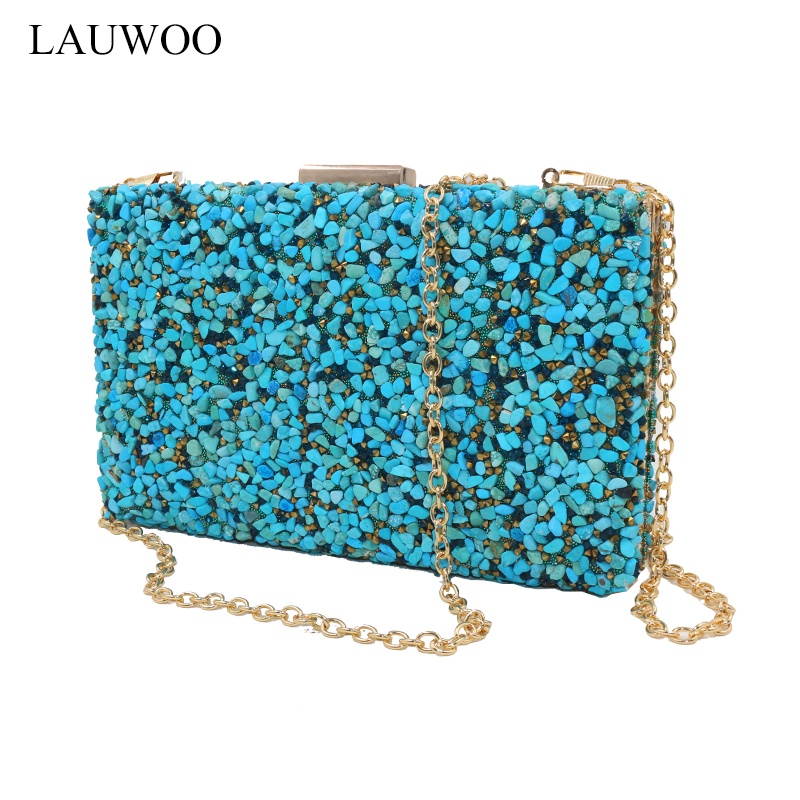 New Stone Women Elegant Evening Bag With Diamond Bag Lady Beachstone Banquet Bag Minaudiere Female Day Clutch Wedding Party new stone women elegant evening bag with diamond bag lady beachstone banquet bag minaudiere female day clutch wedding party