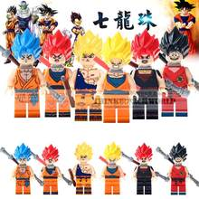NEW 6pcs Dragon Ball Sun Wukong Japanese anime characters Dragon Ball Man assembled children's legoingys toys(China)