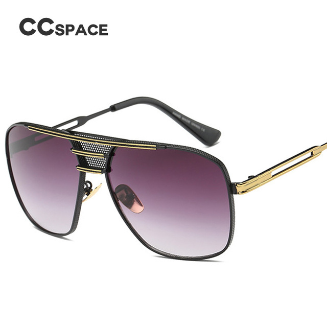 35914656069 CCSPACE Breathable Mesh Retro Sunglasses Men Women Vintage Brand Designer  Fashion Eyewear Metal Frames 100%