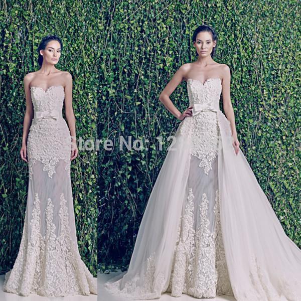 Aliexpress buy 2017 new wedding dresses sweetheart see 2017 new wedding dresses sweetheart see through detachable skirt wedding dress sexy fashion bow belt bridal junglespirit Gallery