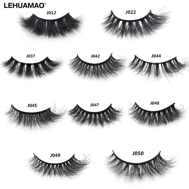 LEHUAMAO 3D Mink Lashes Mink Eyelashes Cross Thick Long Lasting False Eyelashes Luxury handmade Dramatic Natural Lash Extension