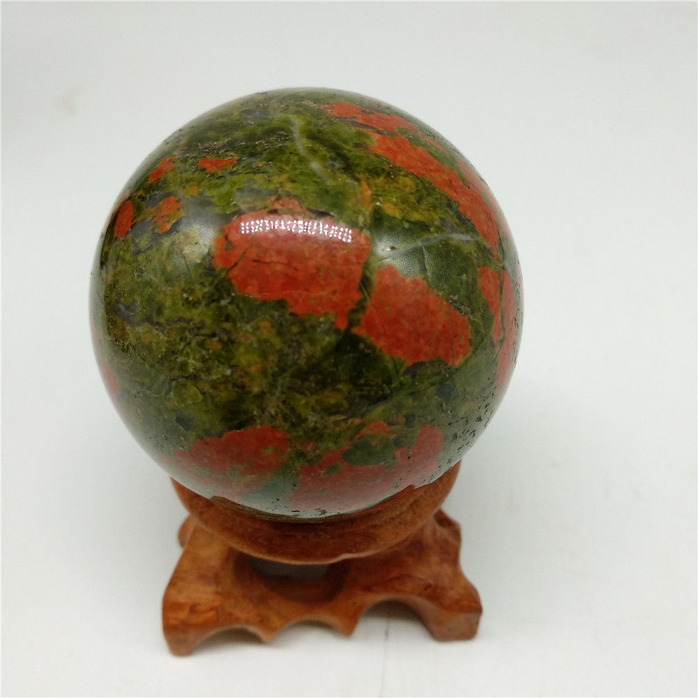 40mm Natural Gemstone Blood Stone Sphere Crystal Ball Healing Reiki Crafts ball