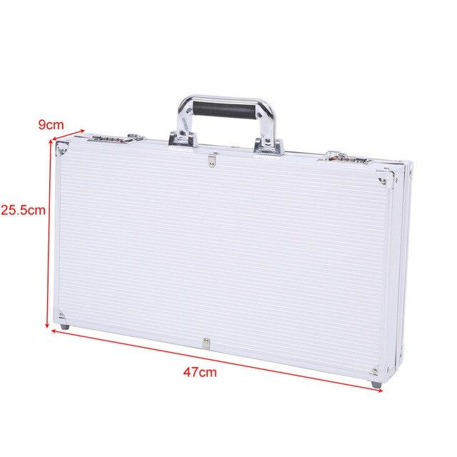 ed1195cad Aluminio durable maleta maletín cerradura de combinación caja de  almacenamiento seguro con revestimiento de espuma para