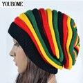 2016 Mujeres de Invierno Sombreros Para Mujeres Niñas Bonete Gorros Gorras de Invierno de Punto Sombrero Reggae Rasta Femme Marca Máscara balaclava sombreros