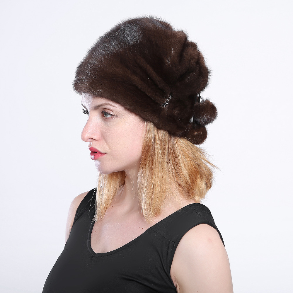 Best seller of mink fur hats From Natural Skin natural fur mink hat for winter women Russian fur hat Fashion Warm winter Black f 10 natural astaxanthin from